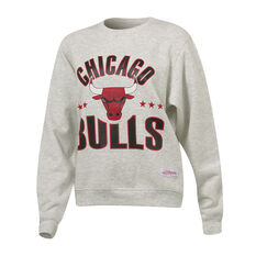 Mitchell & Ness Chicago Bulls All Stars Logo Sweatshirt Grey XS, Grey, rebel_hi-res