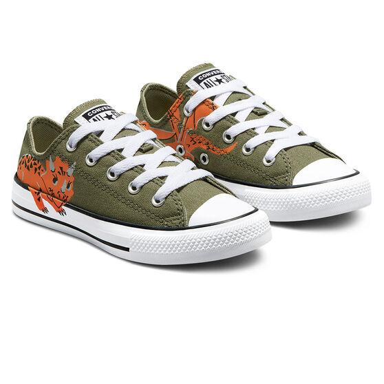 Converse Chuck Taylor All Star Dino Daze Kids Casual Shoes, Khaki, rebel_hi-res