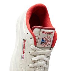 Reebok Club C 85 Mens Casual Shoes, White/Red, rebel_hi-res