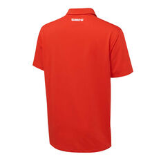 Sydney Swans 2021 Mens Performance Polo Red S, Red, rebel_hi-res