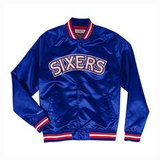Philadelphia 76ers 2019/20 Mens Satin Jacket Blue / Red S, Blue / Red, rebel_hi-res