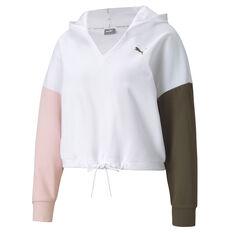 Puma Womens Modern Sports Hoodie White XS, White, rebel_hi-res