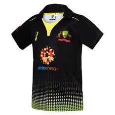 Cricket Australia 2019/20 Kids T20 Replica Shirt Black 8, Black, rebel_hi-res