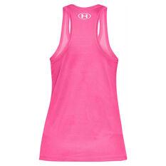 Under Armour Womens UA Tech Patch Mesh Tank Pink XS, Pink, rebel_hi-res