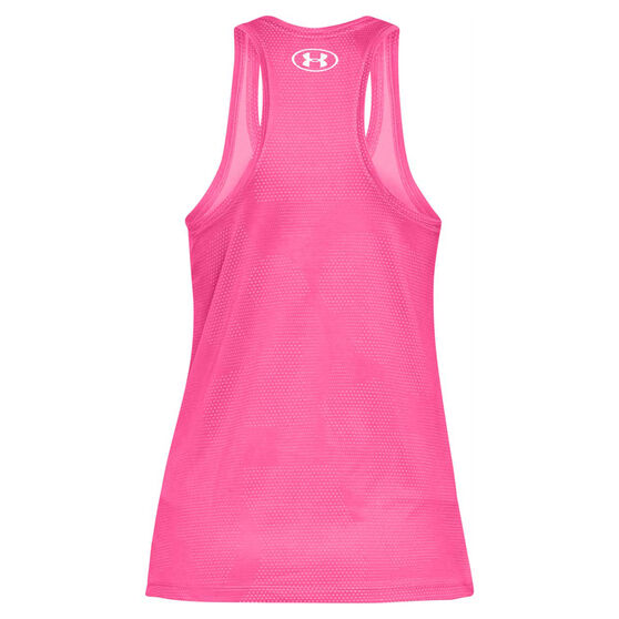 Under Armour Womens UA Tech Patch Mesh Tank, Pink, rebel_hi-res