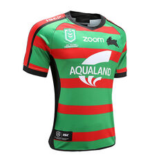South Sydney Rabbitohs 2020 Mens Home Jersey, Green / Red, rebel_hi-res