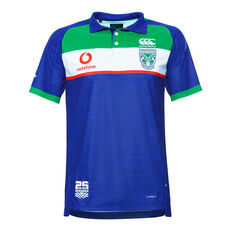 Warriors 2019 Mens Vapodri Polo Blue S, Blue, rebel_hi-res