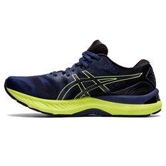 Asics GEL Nimbus 23 Mens Running Shoes Blue/Yellow US 8, Blue/Yellow, rebel_hi-res