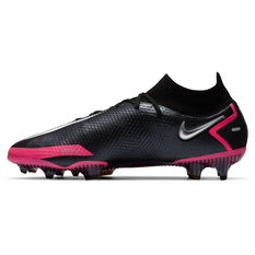 Nike Phantom GT Elite Dynamic Fit Football Boots Black/Silver US Mens 7 / Womens 8.5, Black/Silver, rebel_hi-res