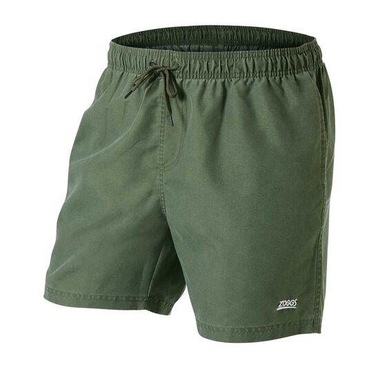 Zoggs Mens Phoenix Board Shorts, Green, rebel_hi-res