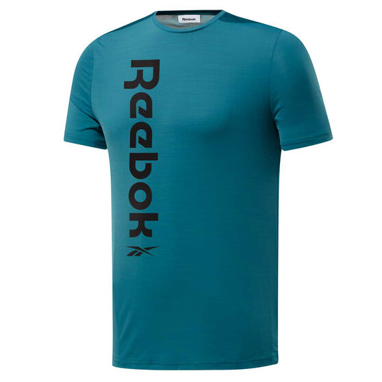 Reebok Mens Workout Ready ACTIVCHILL Tee, Blue, rebel_hi-res