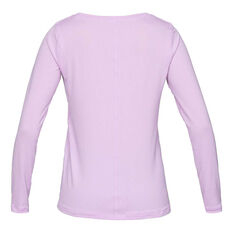 Under Armour Womens HeatGear Armour Long Sleeve Tee Purple L, Purple, rebel_hi-res