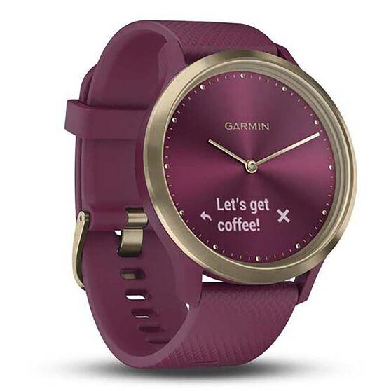 Garmin  Vivomove HR Fitness Tracker Merlot Gold, , rebel_hi-res