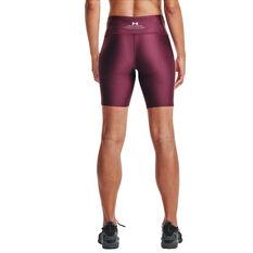 Under Armour Womens Project Rock HeatGear Bike Shorts, Purple, rebel_hi-res