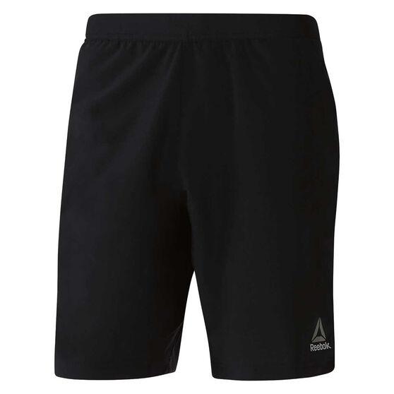 Reebok Mens Speedwick Speed Training Shorts Black S, Black, rebel_hi-res