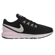 Nike Air Zoom Structure 22 Womens Running Shoes Black / Pink US 6, Black / Pink, rebel_hi-res