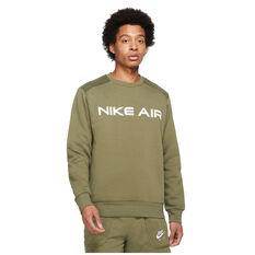 Nike Air Mens Crew Sweatshirt Green XS, Green, rebel_hi-res