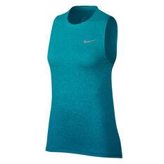 Nike Womens Medalist Tank Blue XS, Blue, rebel_hi-res