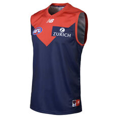 Melbourne Demons 2019 Mens Home Guernsey Blue / Red S, Blue / Red, rebel_hi-res