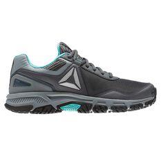 Reebok Ridgerider Trail 3.0 Womens Trail Running Shoes Grey / Blue US 6, Grey / Blue, rebel_hi-res
