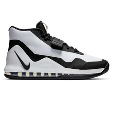 Nike Air Force Max Mens Basketball Shoes White / Black US 8.5, White / Black, rebel_hi-res