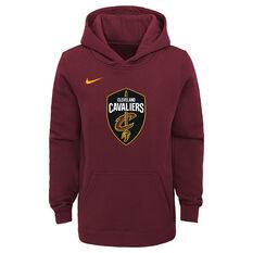 Nike Youth Cleveland Cavaliers Hoodie Maroon S, Maroon, rebel_hi-res