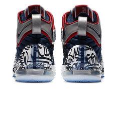 Nike LeBron XVII FP Mens Basketball Shoes, Navy/White, rebel_hi-res