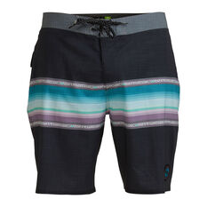 Quicksilver Mens Surfsilk Faded 19in Board Shorts Black 30, Black, rebel_hi-res