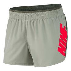 Nike Womens 10K Graphic Running Shorts Green XS, Green, rebel_hi-res