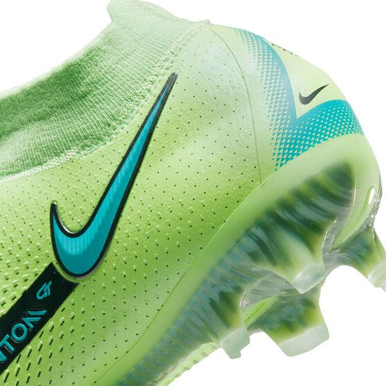 Nike Phantom GT Elite Dynamic Fit Football Boots, Green/Blue, rebel_hi-res