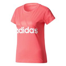adidas Womens Essentials Linear Tee Pink XS Adult, Pink, rebel_hi-res