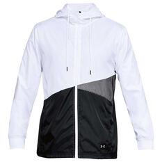 Under Armour Mens Sportstyle Windbreaker Jacket White / Black S, White / Black, rebel_hi-res