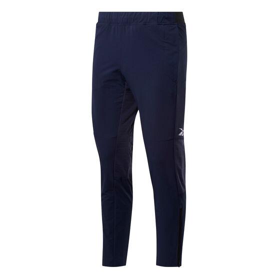 Reebok Mens United By Fitness Woven Pants, Navy, rebel_hi-res