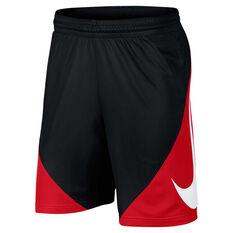 e57e38fc9371 Nike Mens Basketball Shorts Black   Red XS