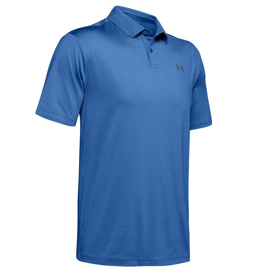 Under Armour Mens Performance Golf Polo Blue XL, Blue, rebel_hi-res