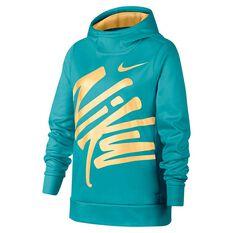 719c6d3b Nike Therma Girls Training Pullover Hoodie Green / Yellow XS, Green /  Yellow, ...