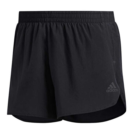 adidas Mens Own The Run Split Shorts, Black, rebel_hi-res