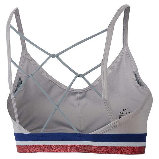 Nike Womens Indy Glam Dunk Sports Bra, Grey, rebel_hi-res