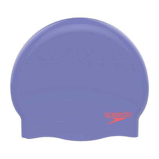 Speedo Plain Moulded Silicone Swim Cap, , rebel_hi-res