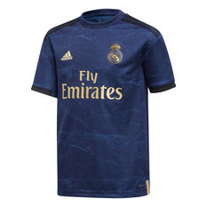 Real Madrid FC 2019/20 Kids Away Jersey Blue 8, Blue, rebel_hi-res
