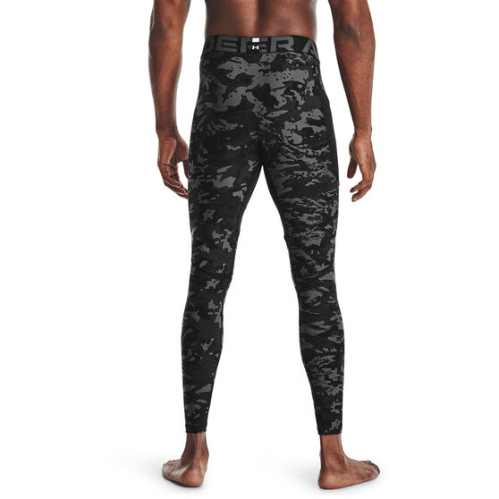 Under Armour Mens HeatGear Armour Camo Tights, Black, rebel_hi-res