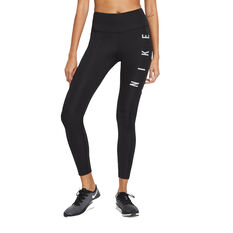 Nike Womens Epic Fast Run Division Running Tights Black XS, Black, rebel_hi-res