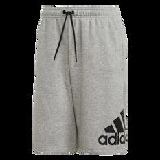 adidas Mens Must Haves Badge of Sport Shorts Grey S, Grey, rebel_hi-res