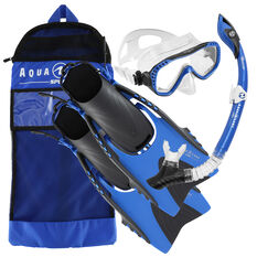 Aqua Lung Sport Adult Compass Snorkel Set Blue S / M, Blue, rebel_hi-res