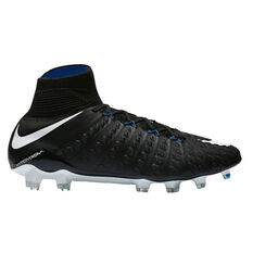 Nike Hypervenom Phantom III Dynamic Fit Mens Football Boots Black / White US 7 Adult, Black / White, rebel_hi-res