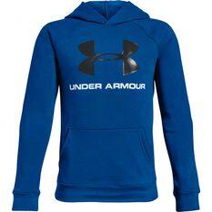 Under Armour Boys Rival Logo Hoodie Royal Blue / Black XS, Royal Blue / Black, rebel_hi-res