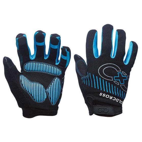 Goldcross Full Finger Gel Gloves Blue L, Blue, rebel_hi-res