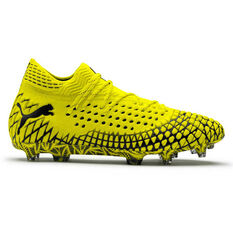 Puma Future 4.1 Netfit Football Boots Yellow / Black US Mens 7 / Womens 8.5, Yellow / Black, rebel_hi-res