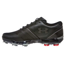 Under Armour Spieth 3 Mens Golf Shoes Black US 7, Black, rebel_hi-res