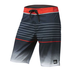 Quiksilver Mens Highline Slab 20in Boardshorts Black 30, Black, rebel_hi-res